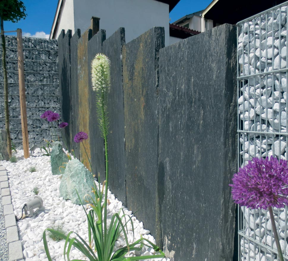 schieferplatten palisaden n hmer beton kies splitt. Black Bedroom Furniture Sets. Home Design Ideas