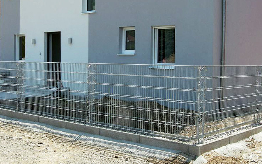 steinzaun 25 cm n hmer beton kies splitt steinkorb. Black Bedroom Furniture Sets. Home Design Ideas