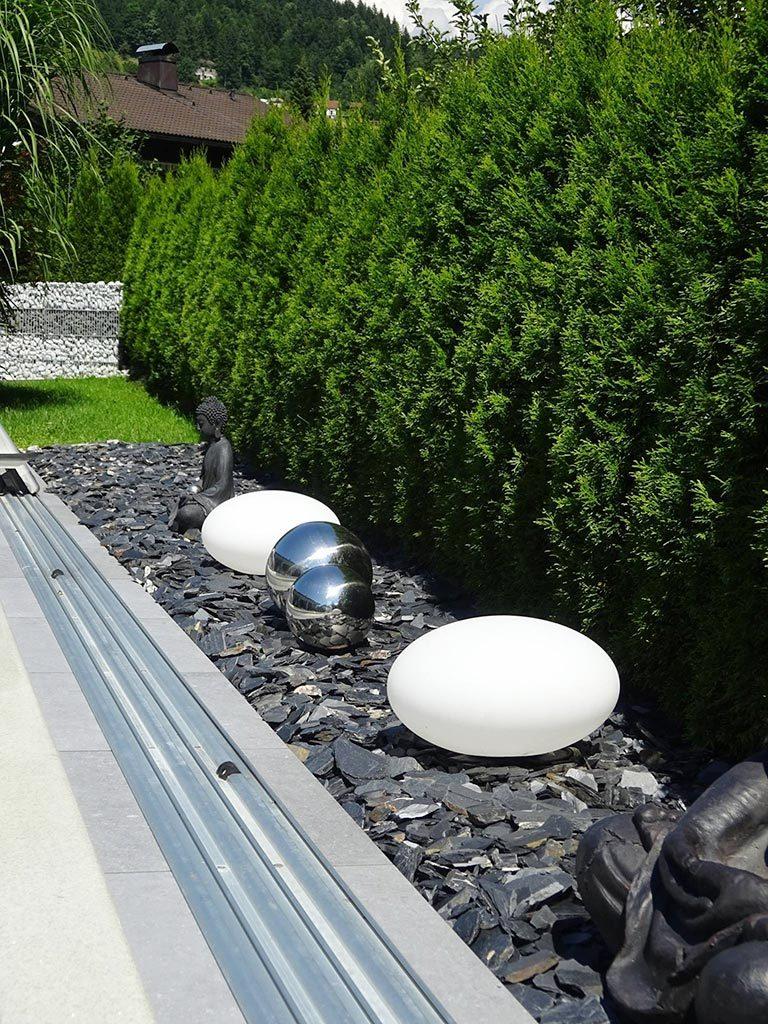 Wundersch ne gartengestaltung mit n hmer produkten n hmer beton kies splitt steinkorb - Gartengestaltung mit splitt ...